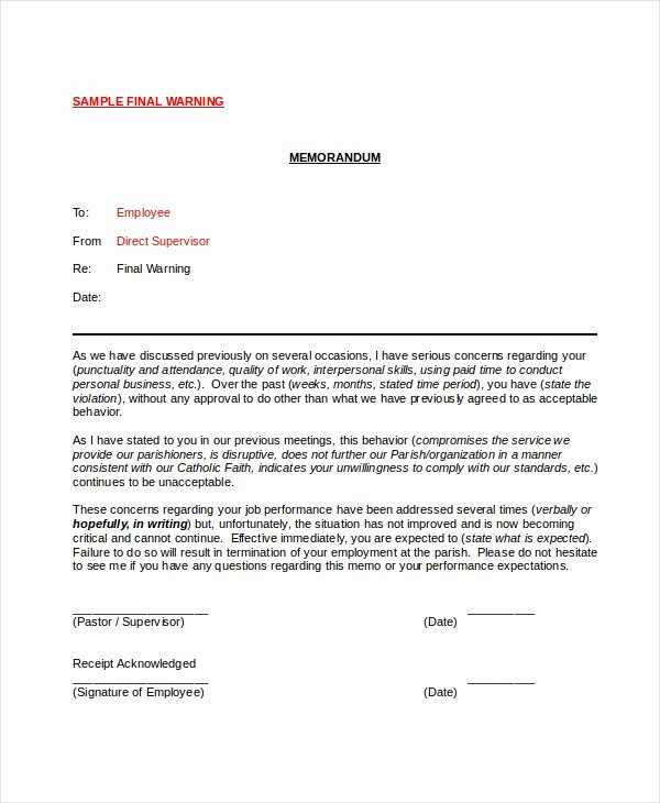 Employee Warning Notice Template Word Elegant 12 Printable Employee Warning Notice Templates Google