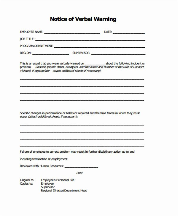 Employee Warning Notice Template Word Inspirational 7 Warning Notice Templates Google Docs Ms Word Apple