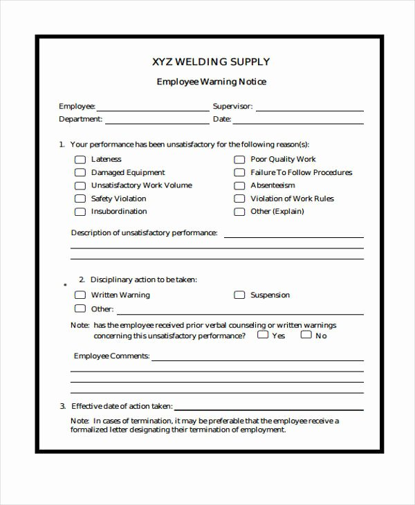 Employee Warning Notice Template Word Luxury 7 Warning Notice Templates Google Docs Ms Word Apple
