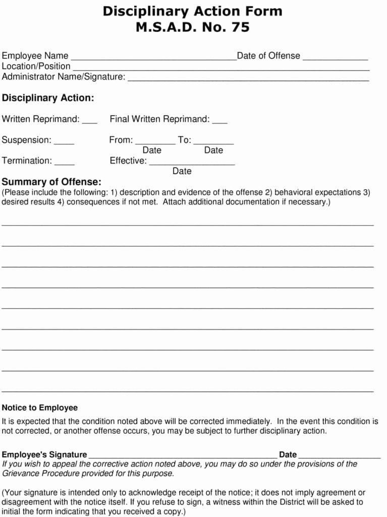Employee Written Warning Template Free Fresh 23 Employee Write Up form Free Download [word Pdf]