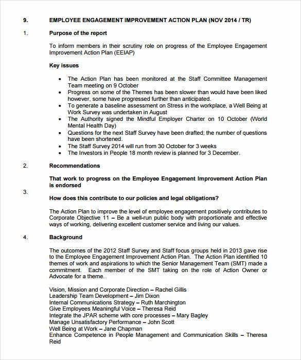 Employment Action Plan Template Awesome Sample Employee Action Plan 12 Documents In Pdf