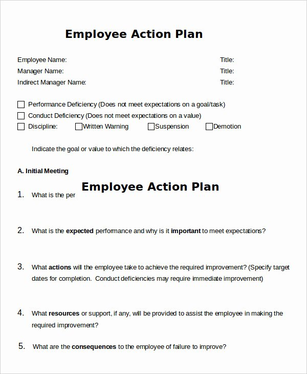 Employment Action Plan Template Fresh Action Plan Template 37 Free Pdf Word format
