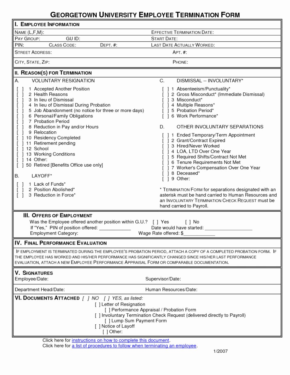Employment Separation Agreement Template Fresh Employee Separation form