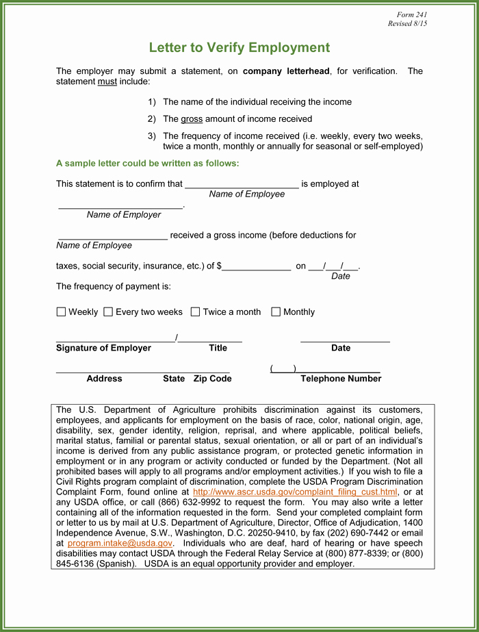 Employment Verification form Templates Best Of 5 Employment Verification form Templates to Hire Best Employee
