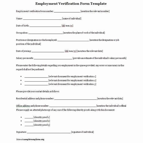 Employment Verification forms Template Elegant Employment Verification form In New Delhi Janakpuri by