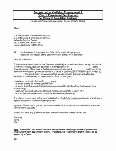 Employment Verification Letter Template Unique Employment Verification
