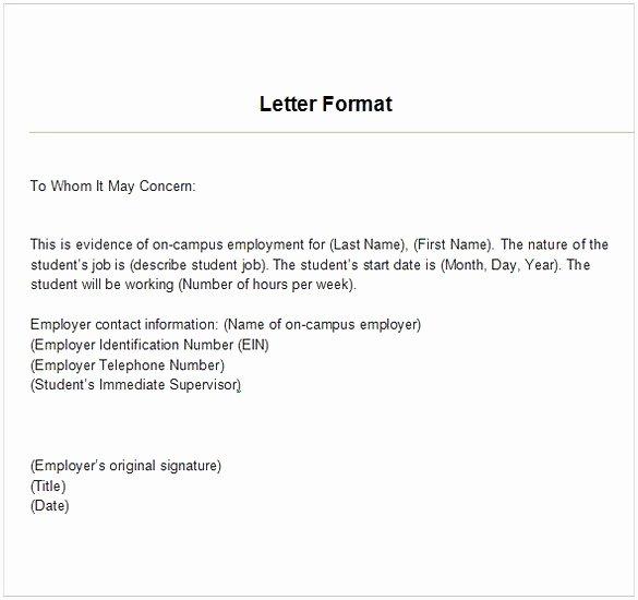 Employment Verification Letter Template Word Awesome Employment Verification Letter Template Word