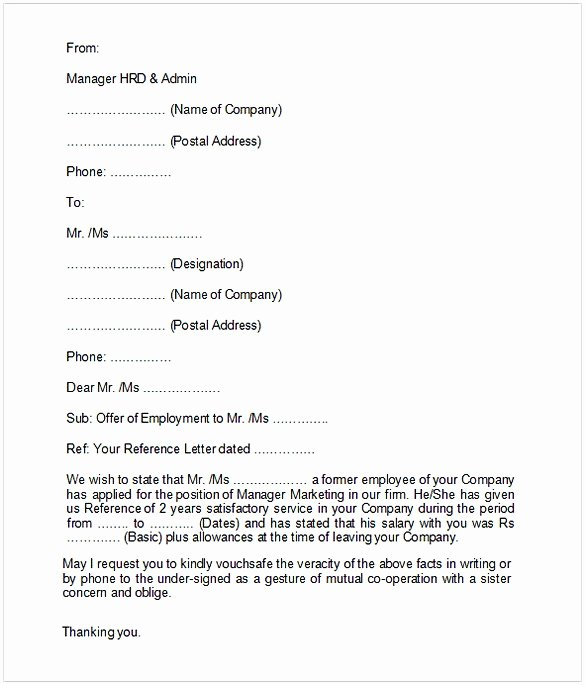 Employment Verification Letter Template Word Best Of Employment Verification Letter Template Word