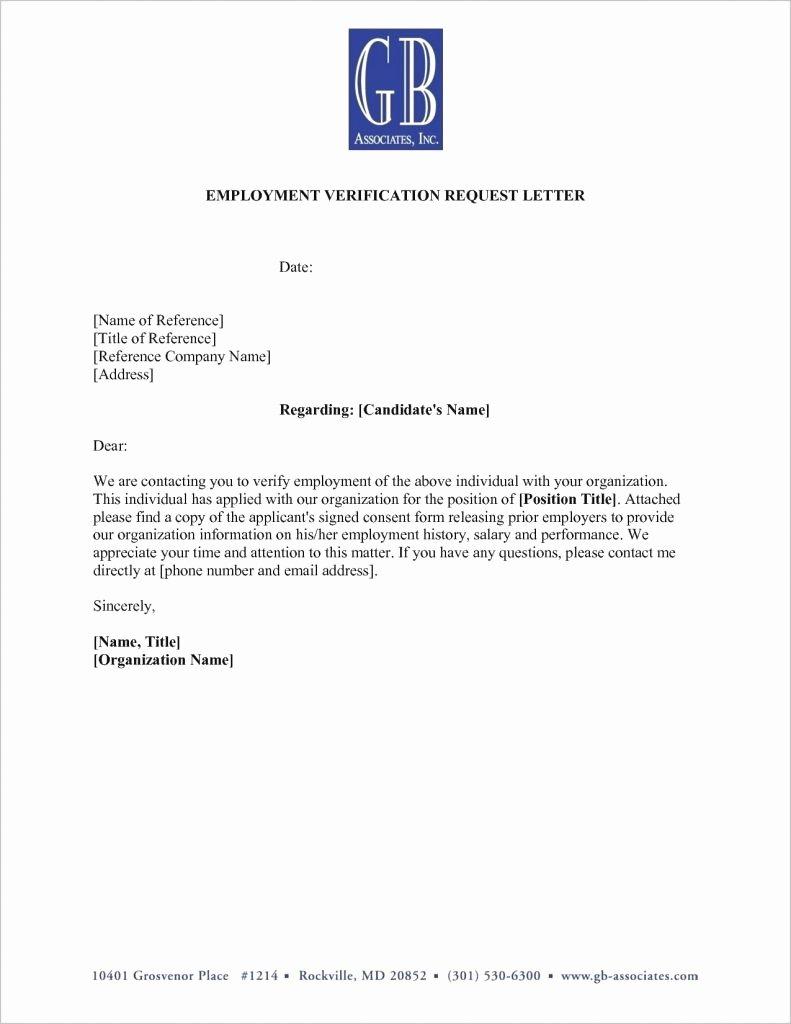 Employment Verification Letter Template Word Lovely Fresh Employment Verification Letter for You