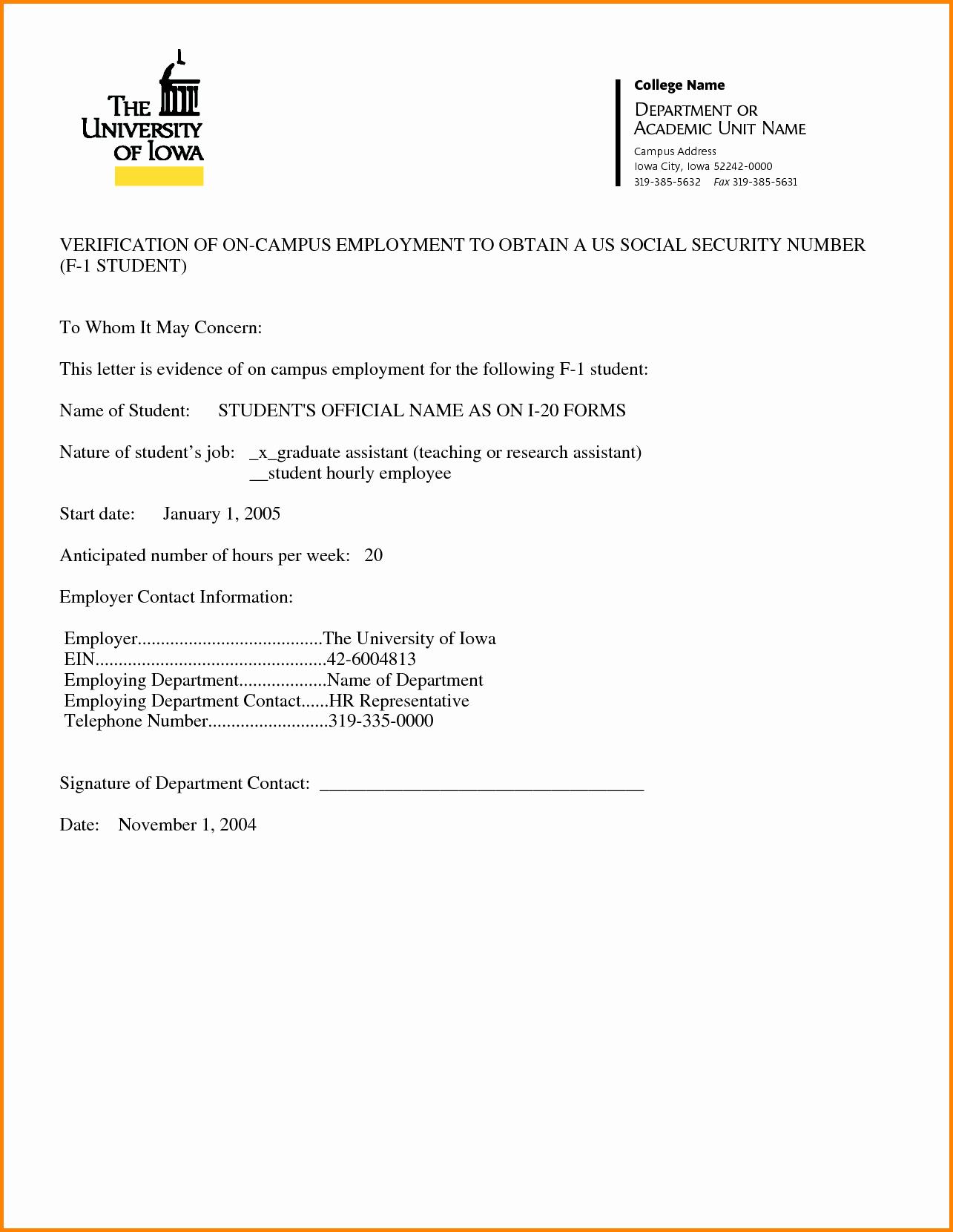 Employment Verification Letter Template Word New Employment Verification Letter Template Word
