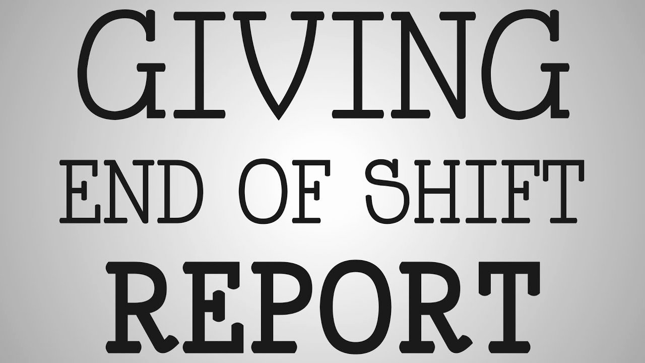 End Of Shift Report Template Lovely Working Nurse