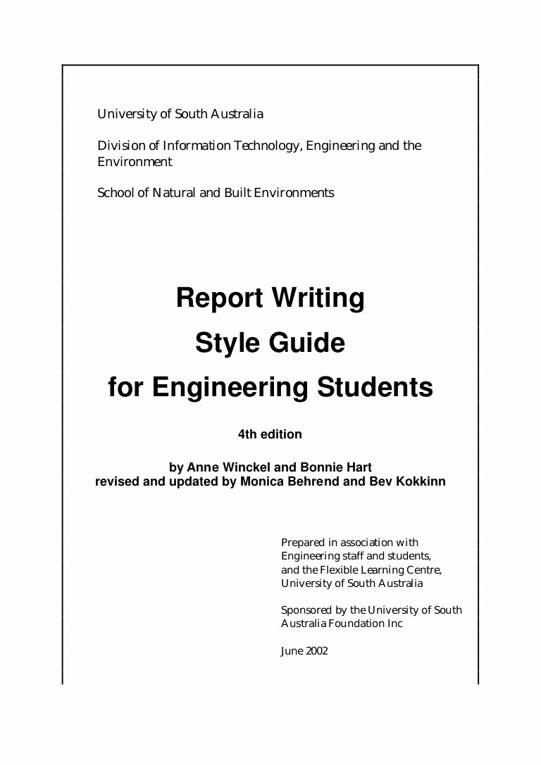 Engineering Technical Report Template Awesome Engineering Report Writing Engineering