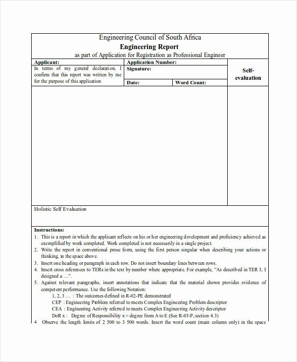 Engineering Technical Report Template Awesome Free 7 Technical Report Examples & Samples In Pdf