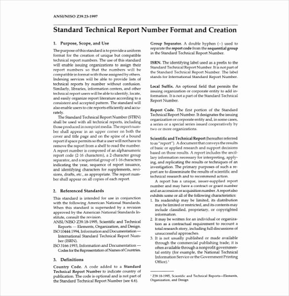 Engineering Technical Report Template Beautiful 10 Technical Report Templates Docs Pdf Word