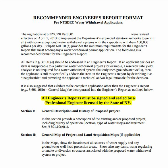 Engineering Technical Report Template Best Of 17 Sample Engineering Reports Pdf Word Pages