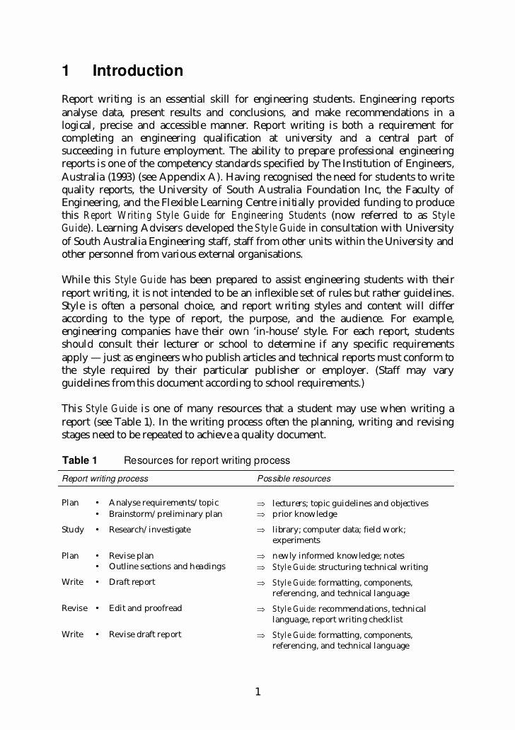 Engineering Technical Report Template Elegant Engineering Report Writing Engineering