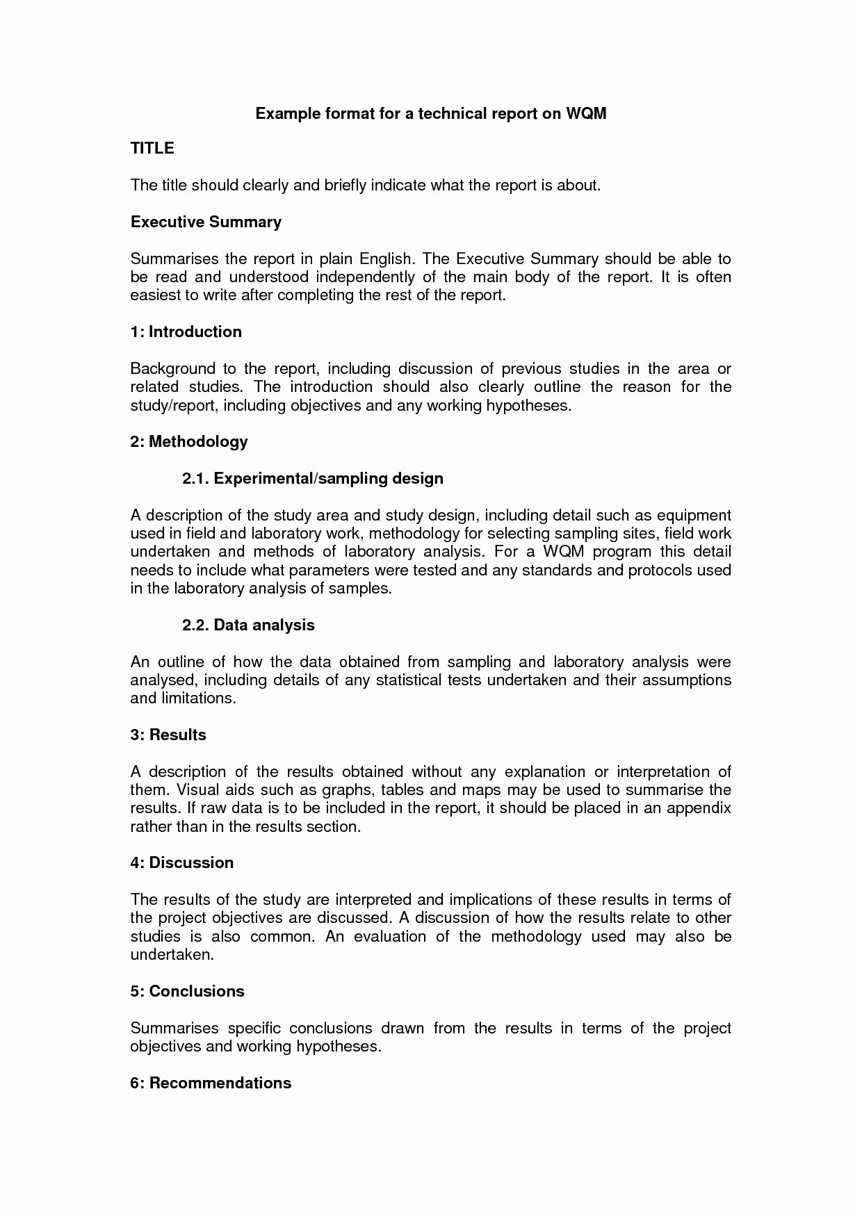 Engineering Technical Report Template Inspirational Technical Report Writing Sample form Template Example Doc