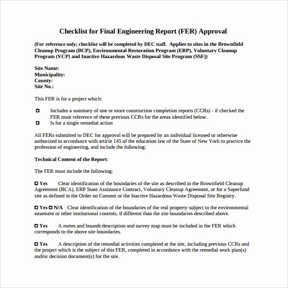 Engineering Technical Report Template Luxury 17 Sample Engineering Reports Pdf Word Pages