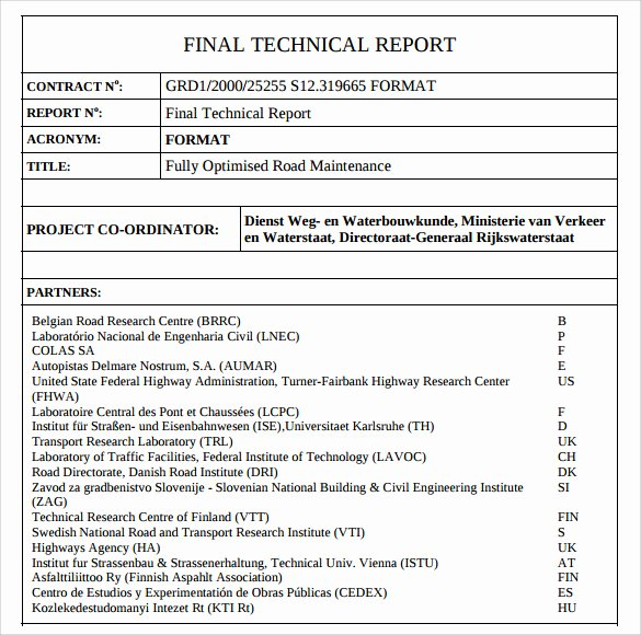Engineering Technical Report Template Luxury 8 Technical Report Samples Examples Templates