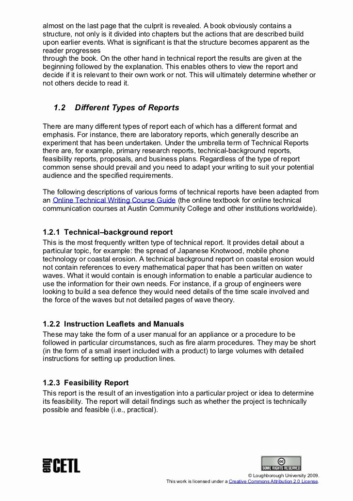Engineering Technical Report Template New Technical Report Writing