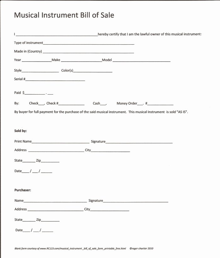 Equipment Bill Of Sale Template Luxury Equipment Bill Sale Template Free Printable Documents