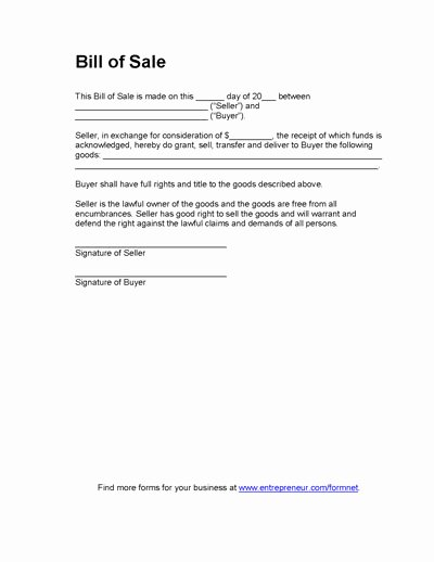 Equipment Bill Of Sale Template New Free Printable Equipment Bill Sale Template form Generic