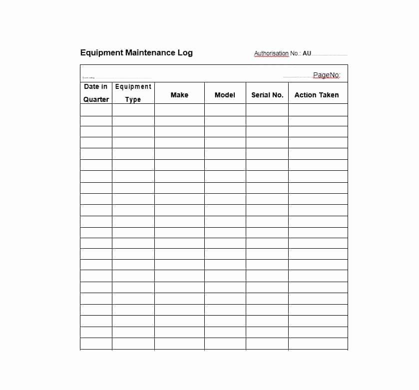 Equipment Maintenance Log Template Best Of 40 Equipment Maintenance Log Templates Template Archive