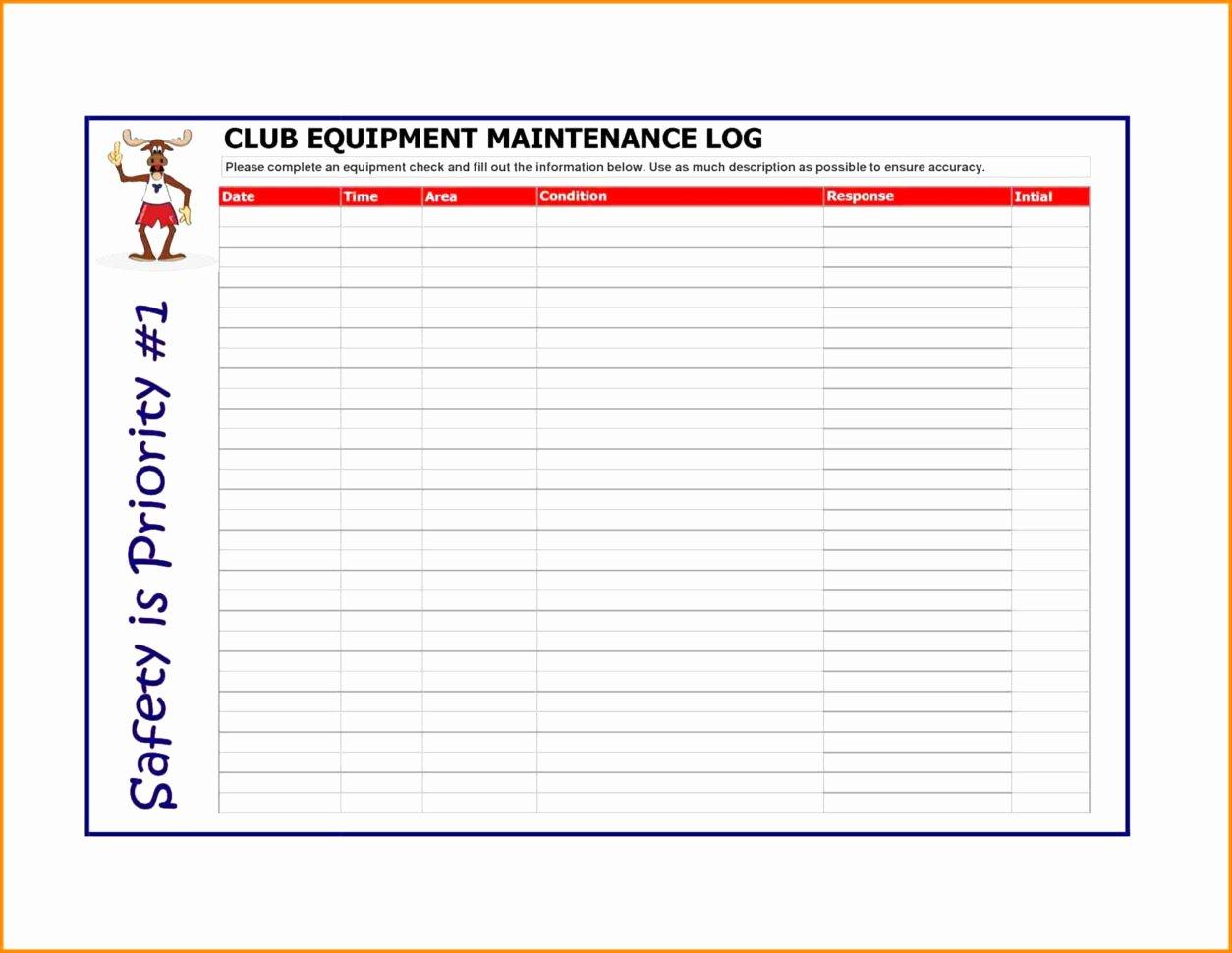 Equipment Maintenance Log Template Excel Luxury Equipment Maintenance Spreadsheet Spreadsheet Downloa