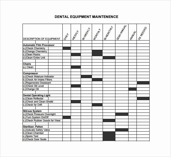 Equipment Maintenance Log Template Inspirational Sample Maintenance Log Template 9 Free Documents In Pdf