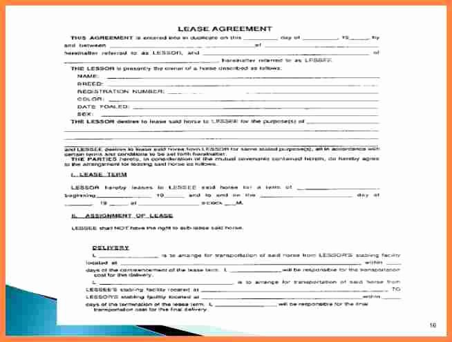 Equipment Purchase Agreement Template Unique 6 Equipment Lease Purchase Agreement Template