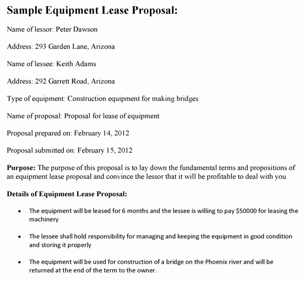 Equipment Purchase Proposal Template Elegant Sample Proposals Free Business Proposals