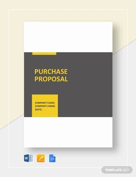 Equipment Purchase Proposal Template Luxury Sample Purchase Proposal Template 15 Free Documents In