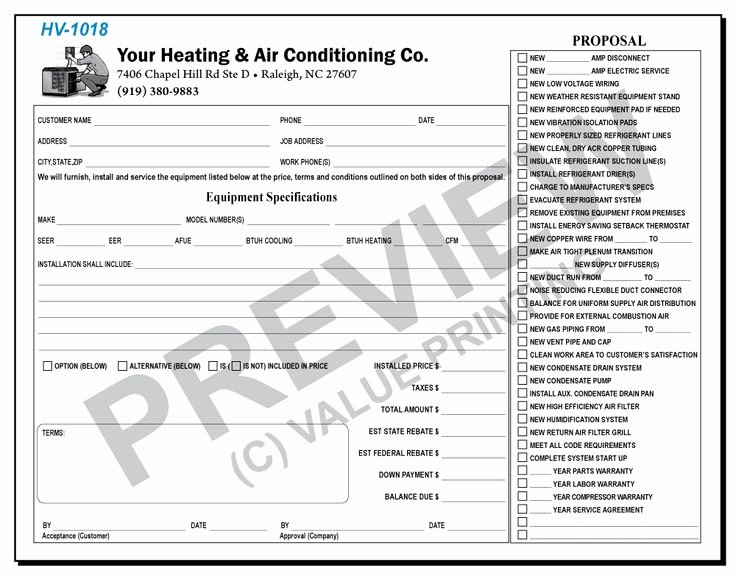 Equipment Purchase Proposal Template New 9 Best Hvac Magnets Images On Pinterest
