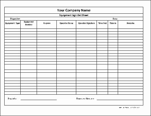 Equipment Sign Out Sheet Template Luxury Here is A Preview the Personalized Equipment Sign Out