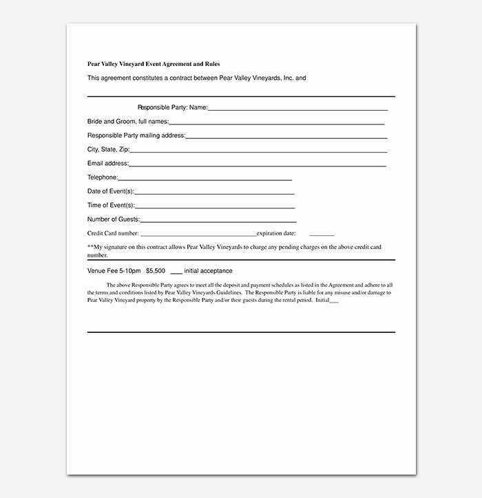Event Planner Contract Template Awesome event Contract Template 19 Samples Examples In Word
