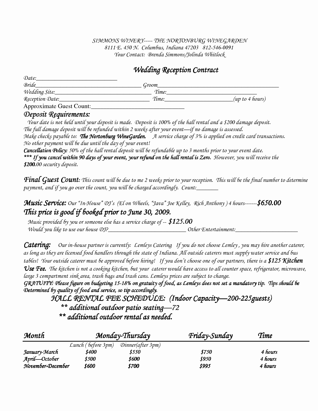 Event Planner Contract Template Beautiful Wedding Venue Contract Template – Emmamcintyrephotography