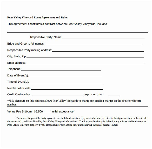 Event Planner Contract Template Elegant event Contract Template 25 Download Documents In Pdf