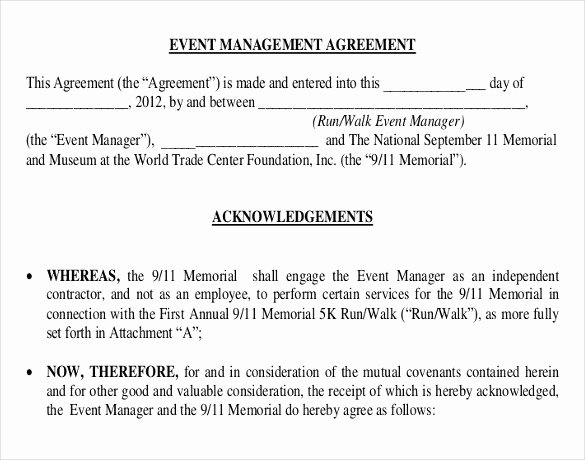 Event Planner Contract Template Inspirational 22 event Contract Templates Word Pdf Excel Google