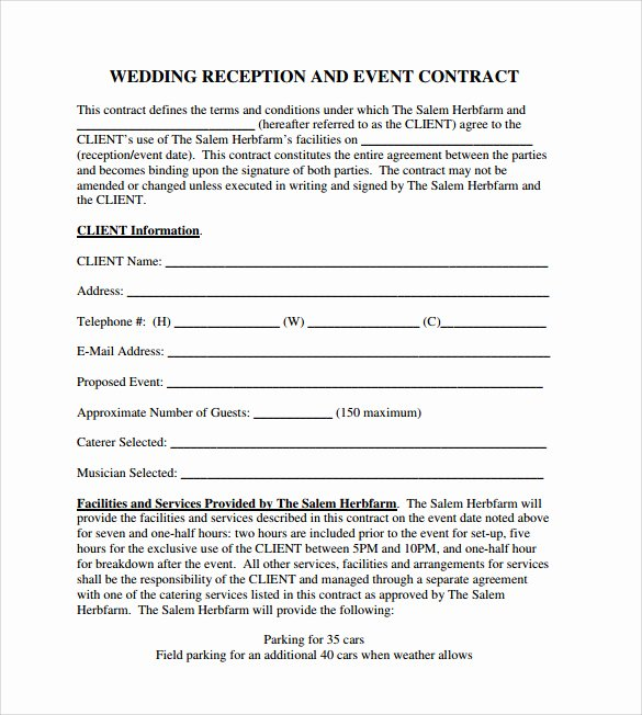 Event Planner Contract Template Unique event Contract Template 25 Download Documents In Pdf