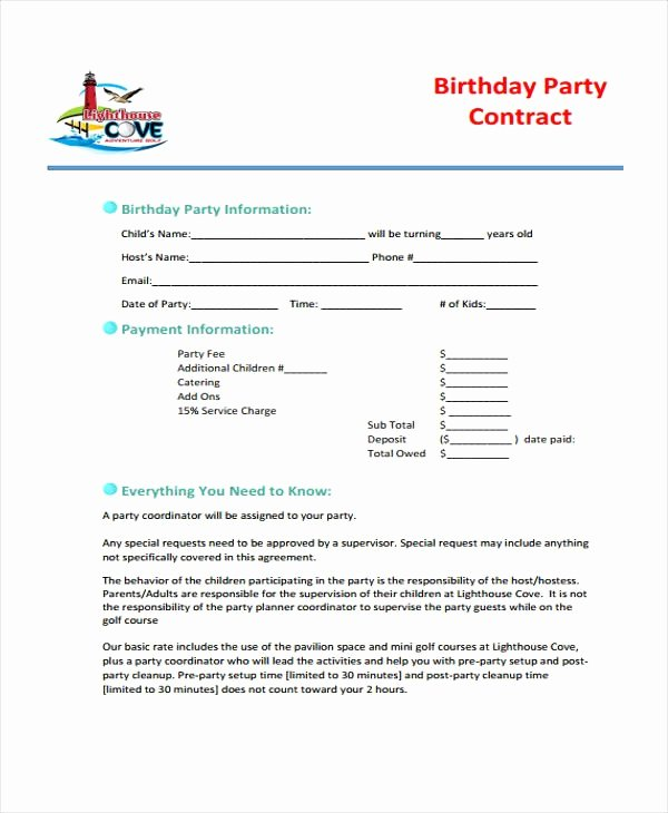 Event Planner Contract Template Unique event Coordinator Contract Sample Image – event Planner