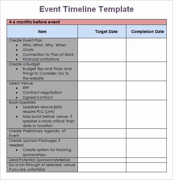 Event Planning Template Pdf Beautiful Free 8 event Timeline Templates In Pdf