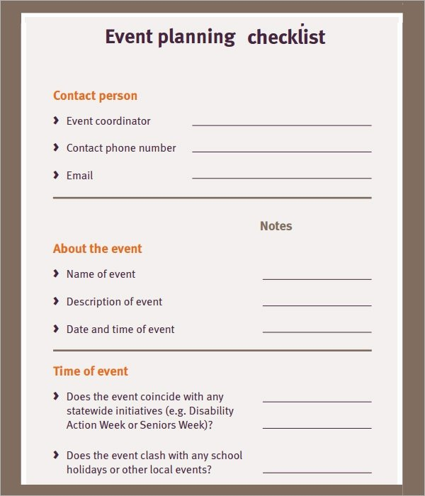 Event Planning Template Pdf New 11 Sample event Planning Checklists – Pdf Word