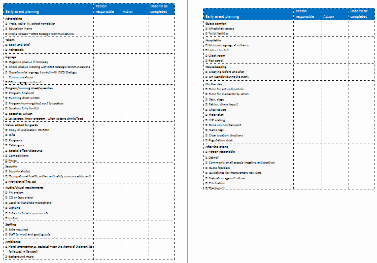 Event Planning Template Pdf New event Planning Template Easy Way to Plan events