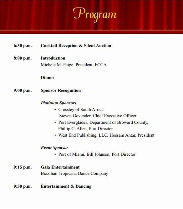 Event Program Template Word Beautiful 38 event Program Templates Pdf Doc