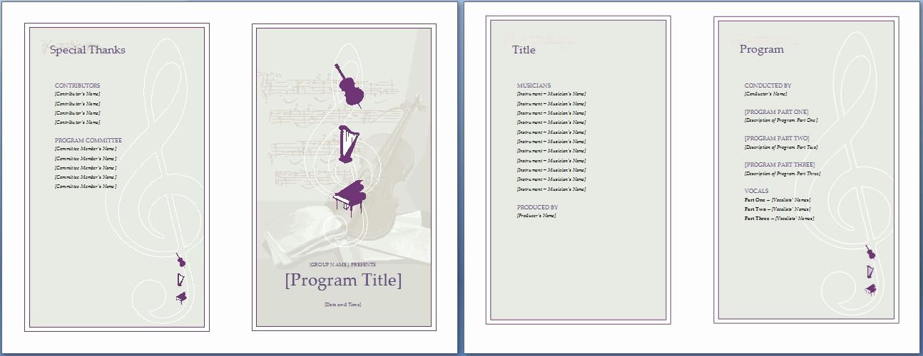 Event Program Template Word Best Of the Music event Program Invitation Will Make Your Planning