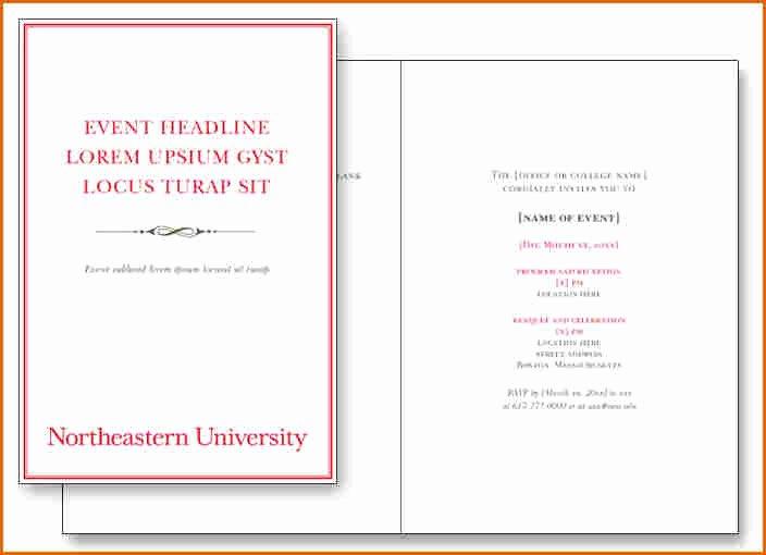 Event Program Template Word Fresh 5 event Program Templates