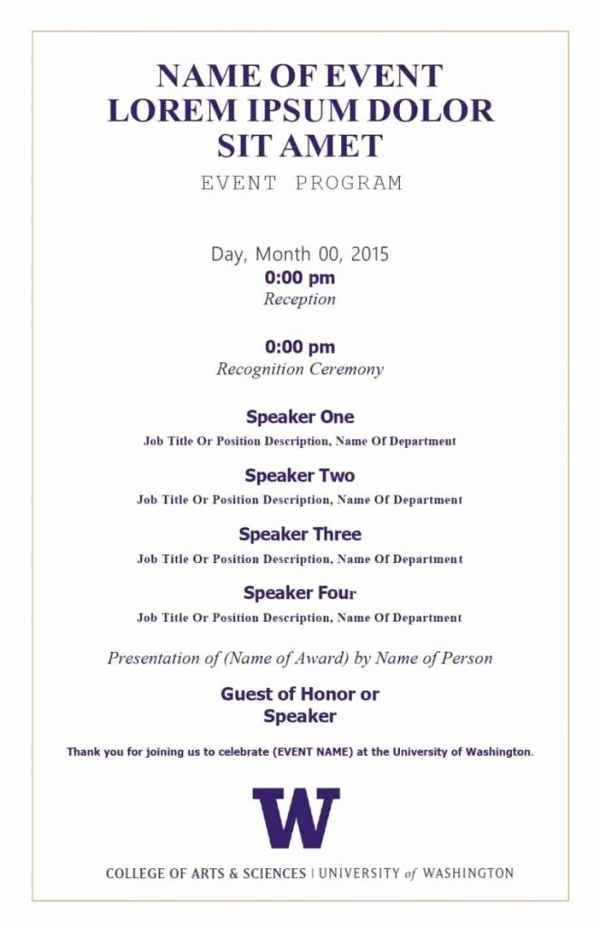 Event Program Template Word Luxury Free eventogram Invitation Templates Designs Gala Dinner
