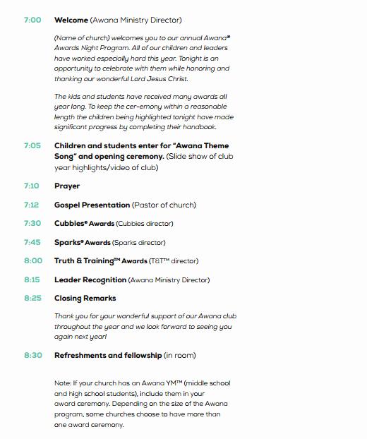 Event Program Template Word New 4 Awards event Program Templates Free Sample Templates