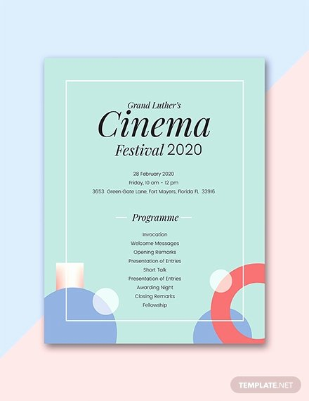 Event Program Template Word New Free 60th Birthday Program Template Download 31 Program