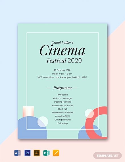 Event Program Template Word Unique 30 Free Program Templates Word Psd Indesign